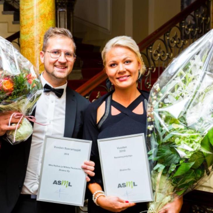 Miia Mimmu Roihas ja Miikka Peuravirta Zinzino